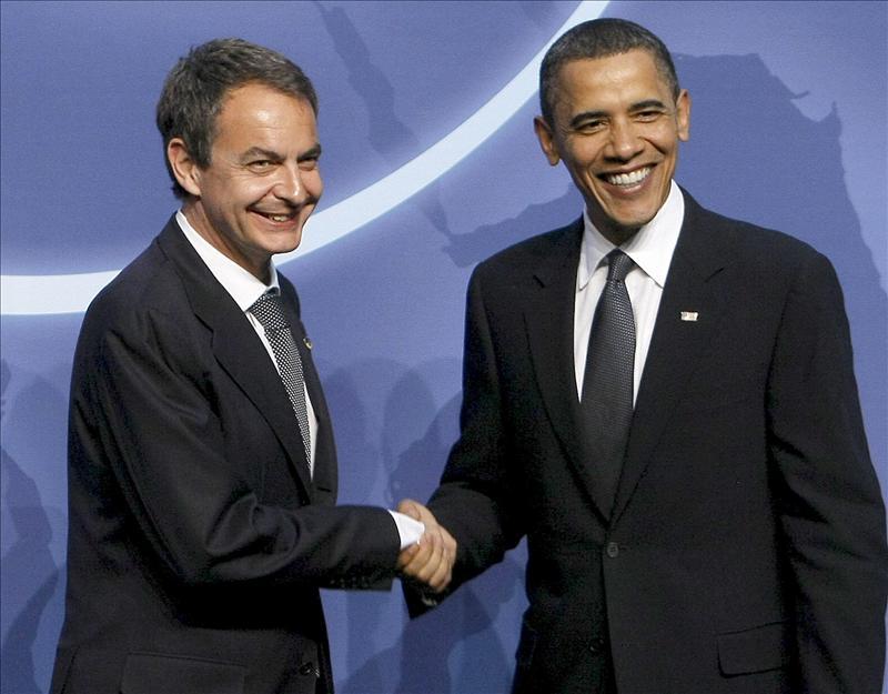 Zapatero y Obama acuerdan coordinarse contra la ralentización de la economía