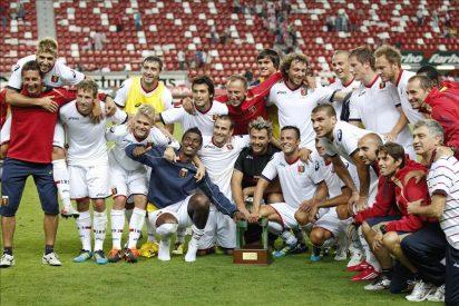 1-2. El Génova logra un triunfo ante el Sporting que encarriló en la primera parte