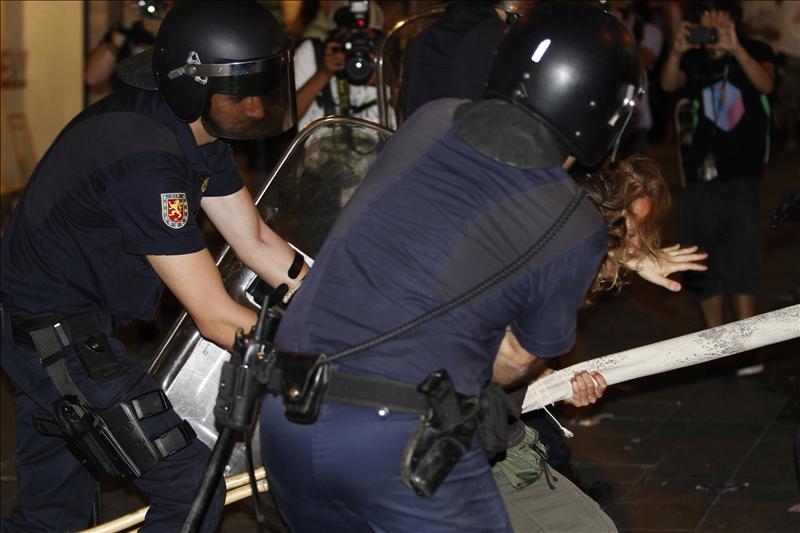 El número de detenidos durante los altercados de la marcha laica en Madrid es de ocho