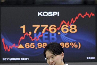 El índice Kospi sube 11,71 puntos, el 0,66 por ciento, hasta 1.788,39 puntos
