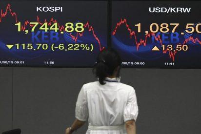 El índice Kospi sube 9,8 puntos, el 0,55 por ciento, hasta 1.764,58 puntos
