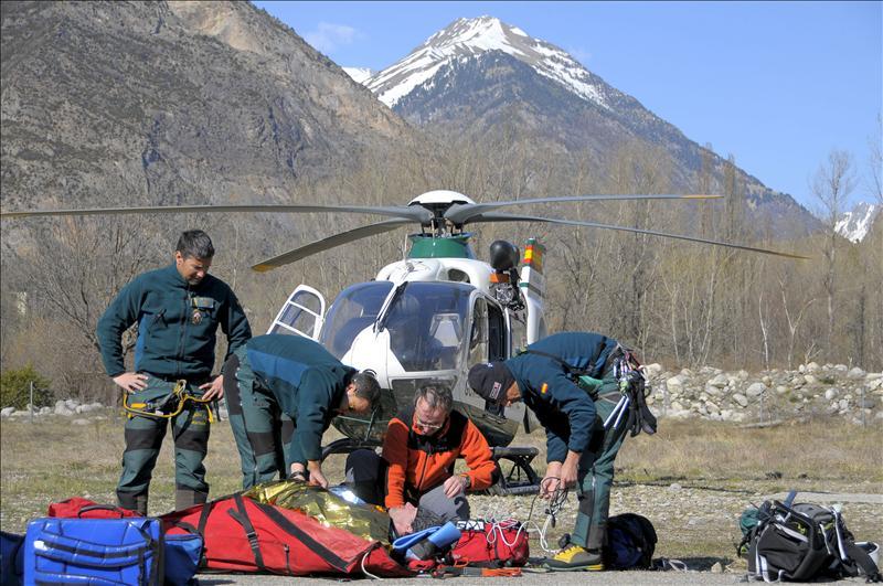 Rescatado el cadáver de un montañero francés fallecido en el Pirineo