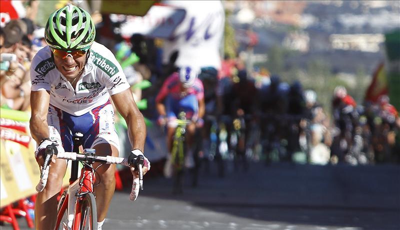 Joaquim Rodríguez, nuevo líder de la Vuelta tras ganar la octava etapa con final en El Escorial