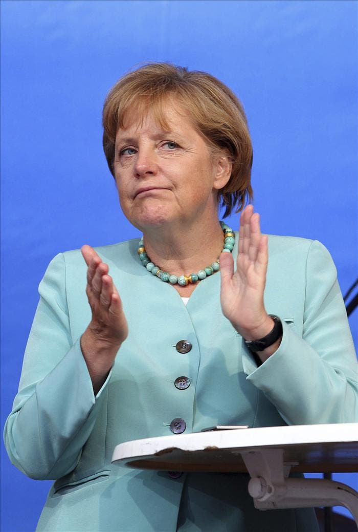 Merkel niega que la crisis en la zona del euro conduzca a una mayor inflación