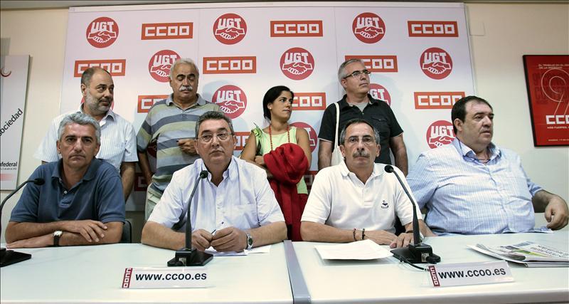 CCOO y UGT convocan tres días de protesta contra la reforma de la Constitución