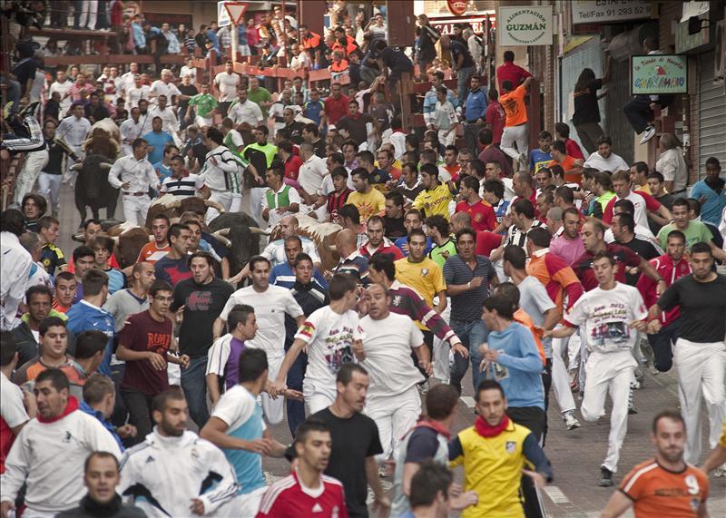 Siete contusionados leves en el penúltimo encierro de San Sebastián de los Reyes