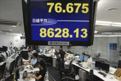 El indice Nikkei cae 17,37 puntos, el 0,19 por ciento, hasta 8.936,53 puntos