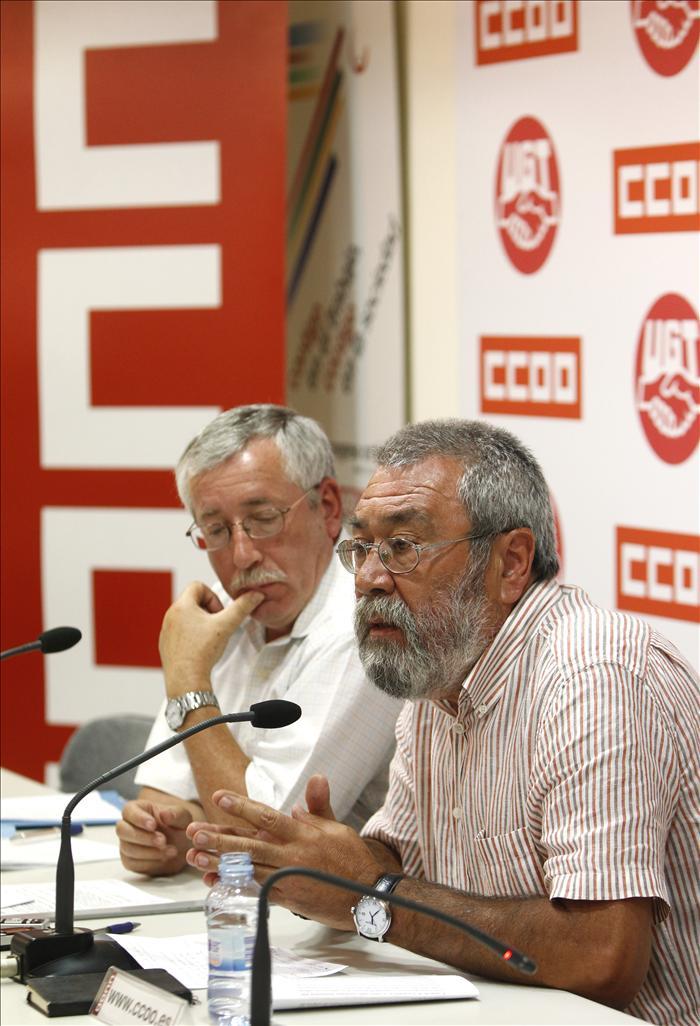 CCOO y UGT afirman que la reforma que limita el déficit rompe el consenso constitucional