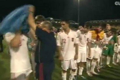 El lío de las banderas regionales en la fiesta de la selección Sub-19