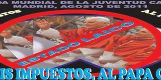 """Los colectivos laicos desoyen a la delegación de Gobierno y mantienen el recorrido de la manifestación """"antipapa"""""""