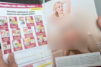 Porno duro en lugar de imágenes para colorear en una revista para niños