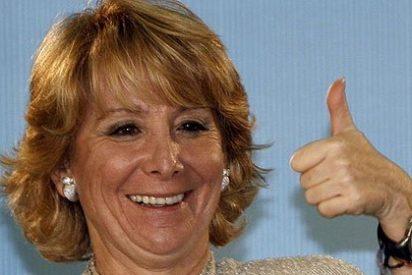 Esperanza Aguirre sale ilesa de un accidente de tráfico en Gijón