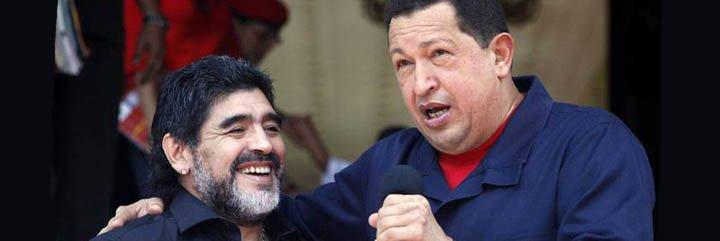 """Maradona pidió que Dios """"dé vida suficiente"""" al mandatario de Venezuela, Hugo Chávez"""