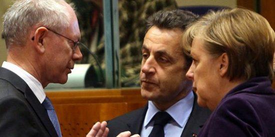 Merkel y Sarkozy exigen retirar las ayudas a países con déficits excesivos
