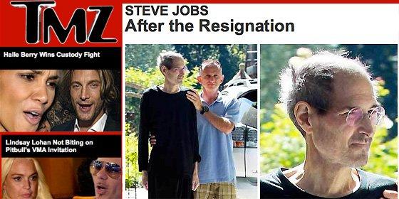 Dramática foto de un delicado y desmejorado Steve Jobs tras dimitir como CEO de Apple