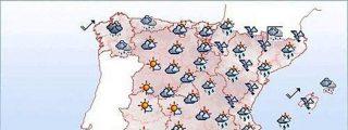 Chubascos fuertes en Aragón, Cataluña, Comunidad Valenciana y Baleares