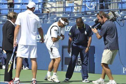 Ferrer no pudo ante Roddick, próximo rival de Nadal, tras un accidentado partido