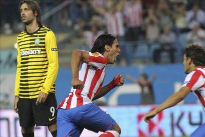 2-0. Diego, Falcao y Arda imponen la superioridad del Atlético ante el Celtic