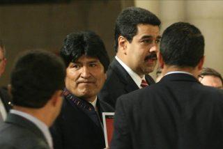 Evo Morales reza por la salud de Hugo Chávez en Nueva York