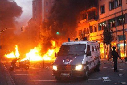 Continúan los disturbios en Rekalde y otras zonas de Bilbao