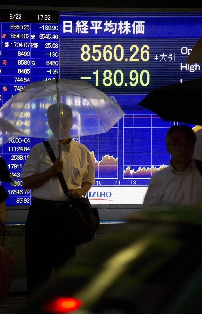 La Bolsa de Tokio en su nivel mas bajo en seis meses