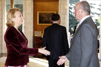 El rey recibe a la presidenta de Aragón, Luisa Fernanda Rudi