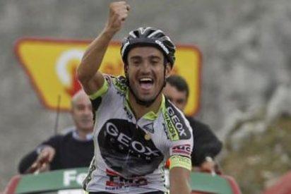 Cobo se exhibe en el Angliru y se coloca líder de la Vuelta a España