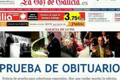 La Voz de Galicia 'mata' por error a Manuel Fraga