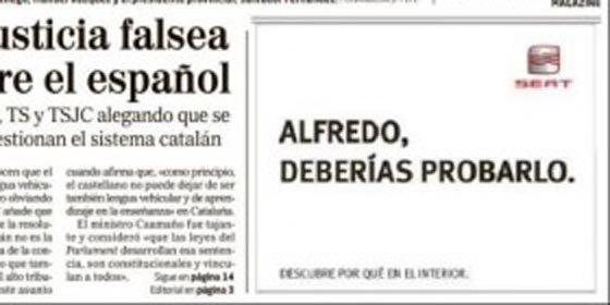 """El mensaje de SEAT a los candidatos: """"Alfredo, deberías probarlo"""" y """"Mariano, deberías probarlo"""""""