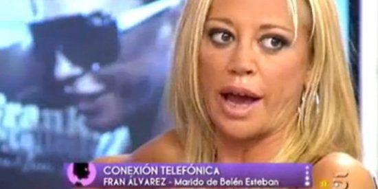 """Brutal (¿y preparada?) bronca entre Belén Esteban y su marido en directo: """"Me parece una gilipollez que te pongas así ¡Déjame hablar!"""""""