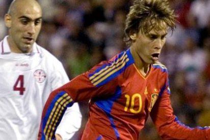 Sergio Canales guía a la selección española sub-21 ante Georgia (2-0)