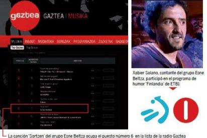 La televisión vasca promociona a grupos que apoyan a proetarras