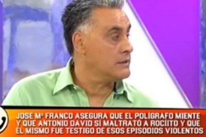 """Franco: """"Vi como Antonio David cogía del cuello a Rocío Carrasco"""""""