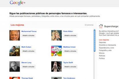 Los famosos se quejan de las listas de 'usuarios sugeridos' en Google+