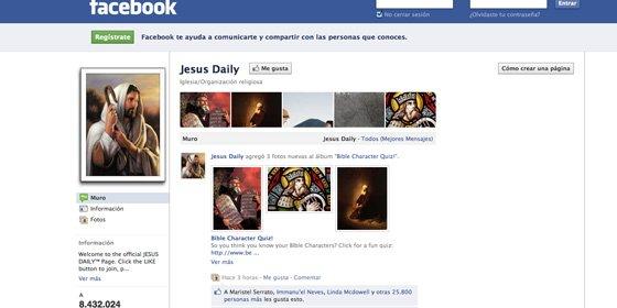 """Jesucristo """"engancha"""" más en Facebook que Justin Bieber y Lady Gaga"""