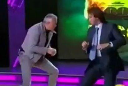 Los multimillonarios se lían a puñetazos en directo en la televisión rusa