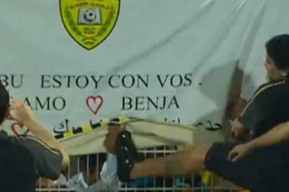 Maradona patea a un aficionado después de un partido del Al Wasl