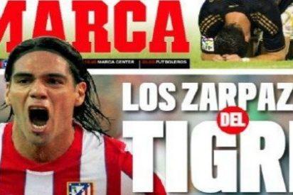 El diario 'Marca' se acuerda del Atleti para tapar el fiasco del Madrid