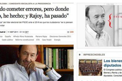 El País, web oficial de Rubalcaba