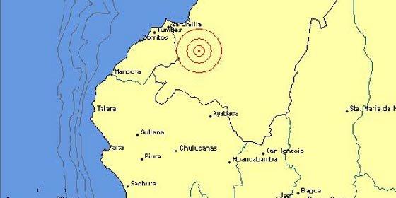 Sismo de 5 grados Richter sacudió el norte de Perú