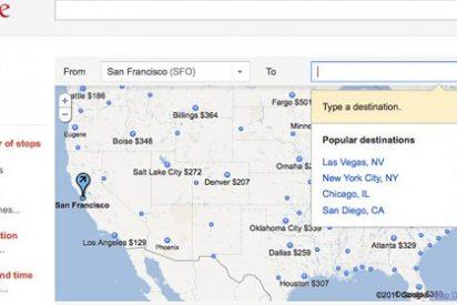 Google presenta su servicio de búsqueda de vuelos Flight Search
