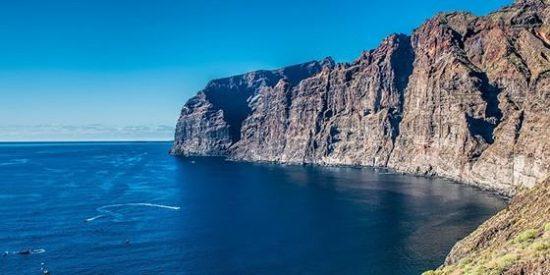 Tenerife, Los Gigantes, Costa, Cliff, Mar, Azul