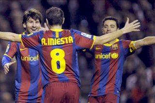 Iniesta da al Barça un importante triunfo en un partido sin exigencias