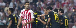 0-1. Insulso triunfo del Barcelona ante un peleón Sporting