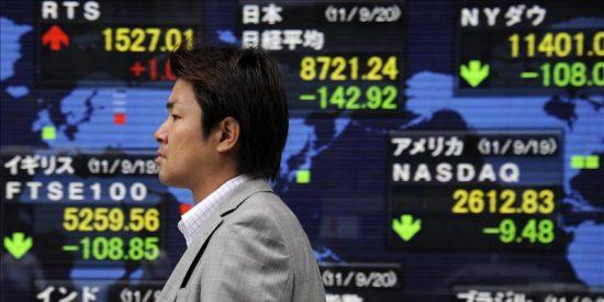 El Nikkei cae 132,31 puntos, el 1,52 por ciento, hasta 8.567,98 puntos
