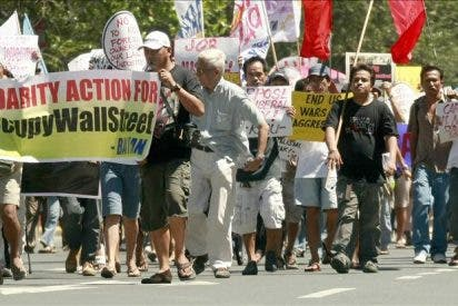 """Cientos de """"indignados"""" secundan las protestas en Australia y Nueva Zelanda"""