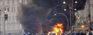"""Multitud de """"indignados"""" en Europa, disturbios en Roma y menor eco en América"""