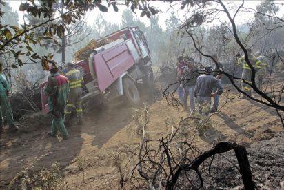 Más de 4.500 hectáreas de monte arden en pleno otoño en Galicia