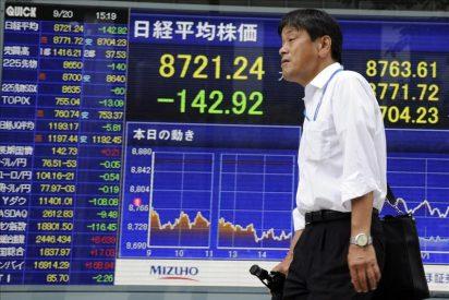 El Nikkei pierde 137,69 puntos, un 1,55 por ciento, hasta 8.741,91 puntos