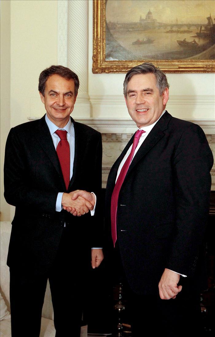 Zapatero se reunirá con el ex presidente de Reino Unido Gordon Brown